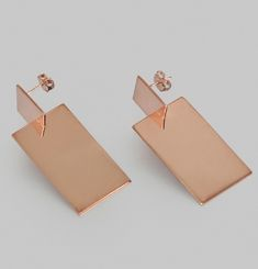 3D Assembly Rectangle Earrings