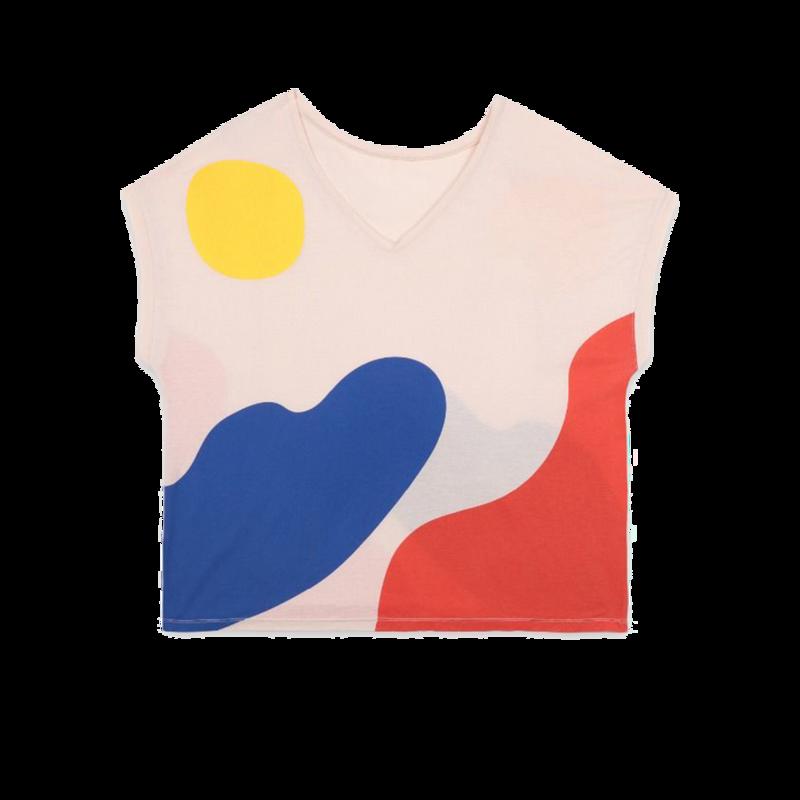 T-shirt en lyocell et coton imprimé paysage - Bobo Choses