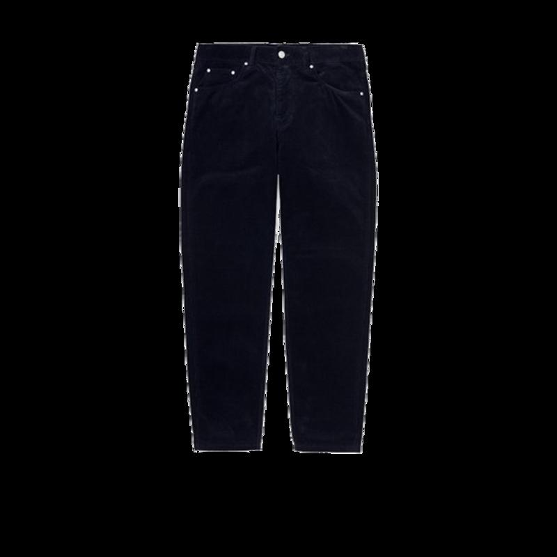 Pantalon Newel Corduroy bleu marine - Carhartt WIP