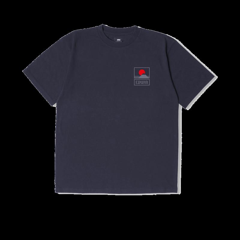 T-shirt imprimé Sunset On Mt Fuji - Edwin