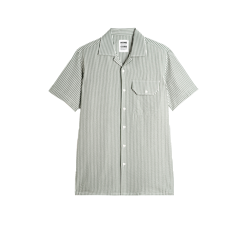 Chemise manches courtes rayée en lyocell Guarda Ana - Homecore