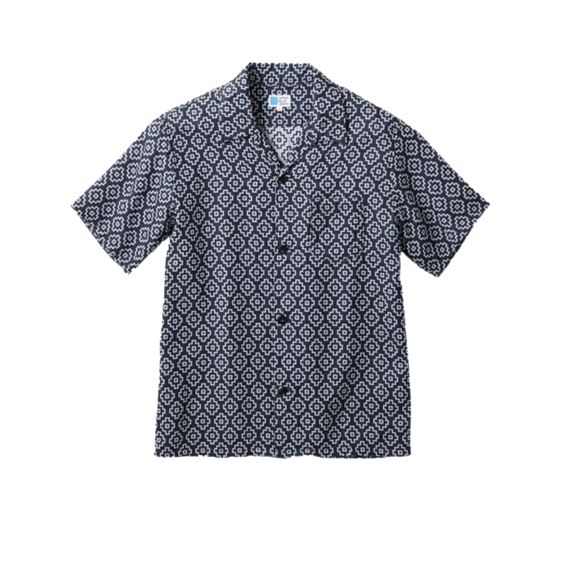 Chemise manches courtes à motif japonais - Japan Blue Jeans