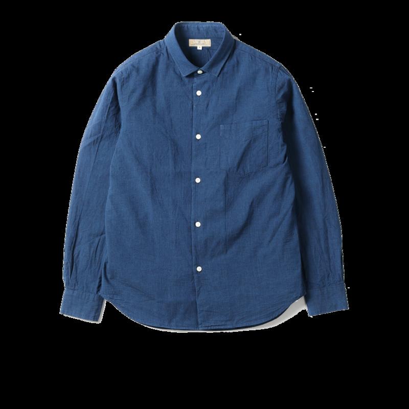 Chemise en coton Chambray Bono  - Japan Blue Jeans