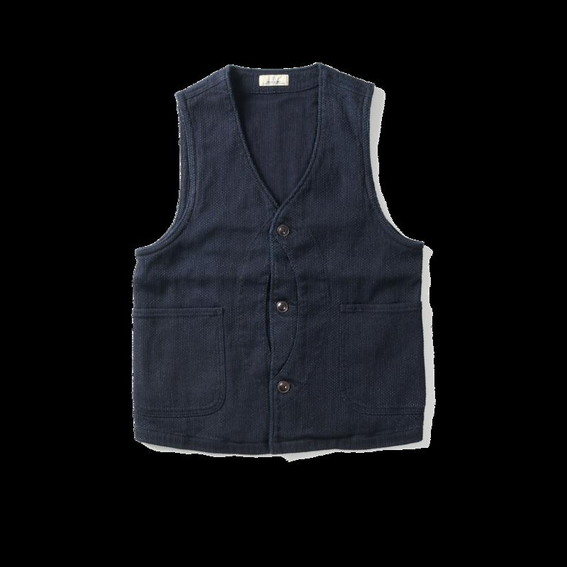 Veste sans manche en coton Sashiko - Japan Blue Jeans