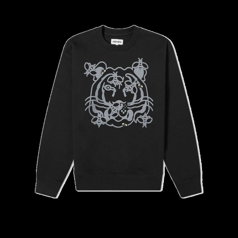 Sweatshirt en coton bio imprimé Bee A Tiger - Kenzo