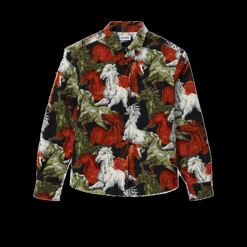 Chemise à imprimé chevaux - Kenzo