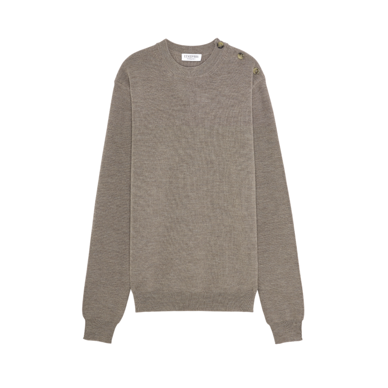 Pull marin en laine mérinos extrafine - L'Exception Paris