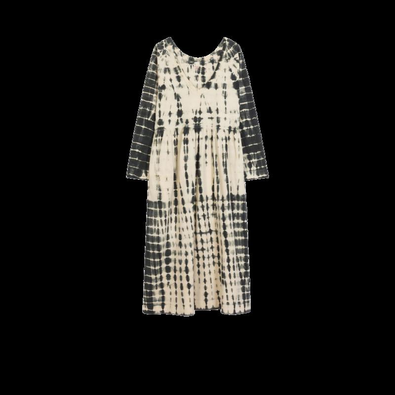 Robe midi manches longues tie and dye en coton bio Rayo - Leon & Harper
