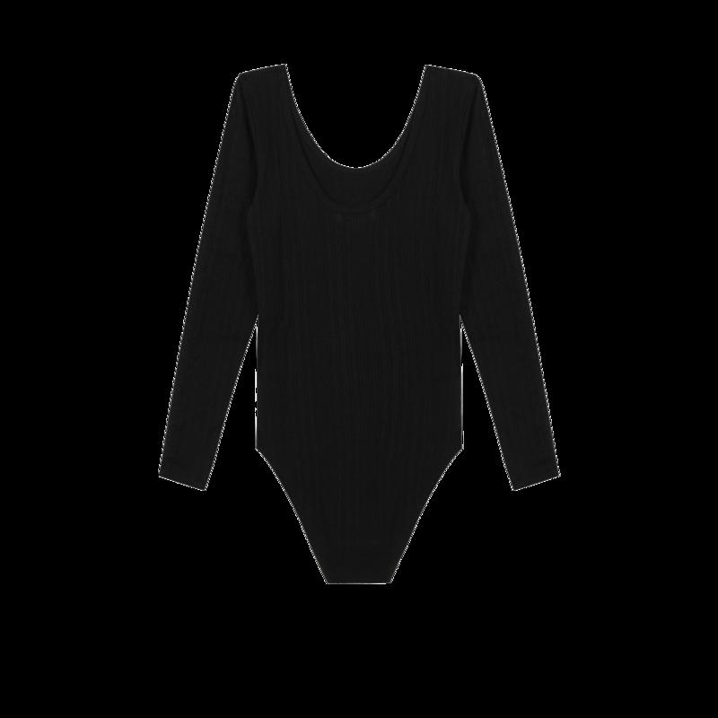 Body manches longues en coton bio brodé Amour - Maison Labiche