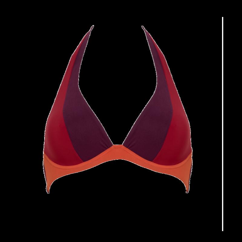 Haut de maillot de bain triangle armaturé Colorblock - Maison Lejaby