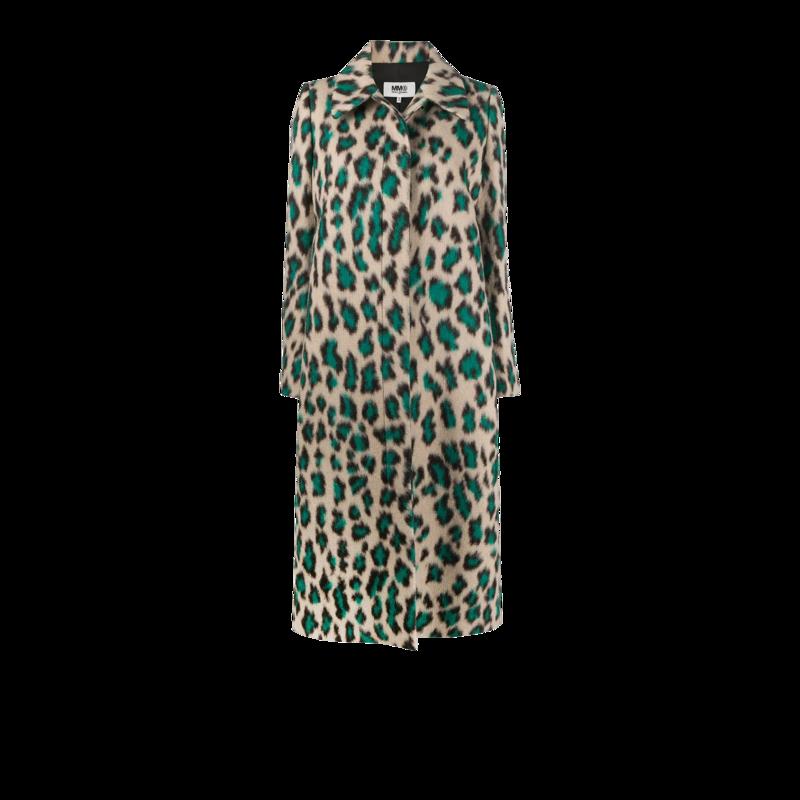 Manteau long motif léopard - MM6