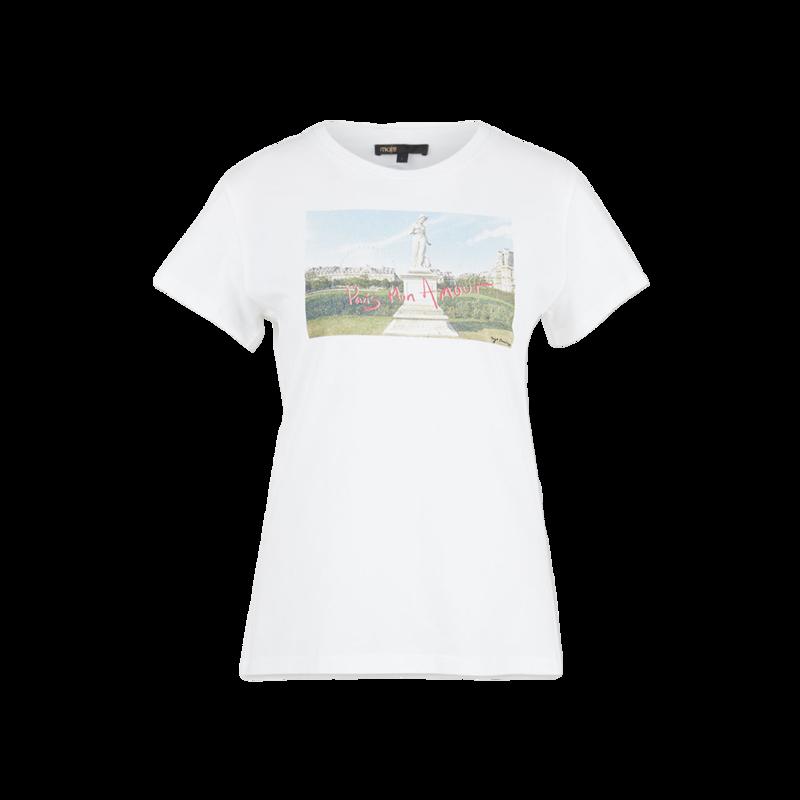 T-shirt imprimé en coton bio Tuileries - Maje