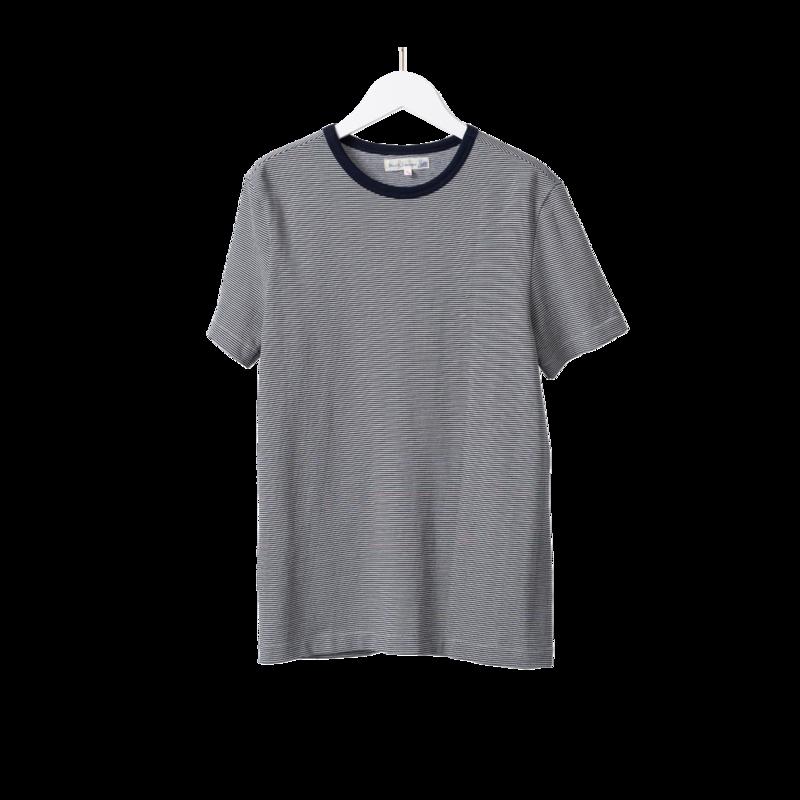T-shirt 215 Men's Crew rayé  - Merz b Schwanen
