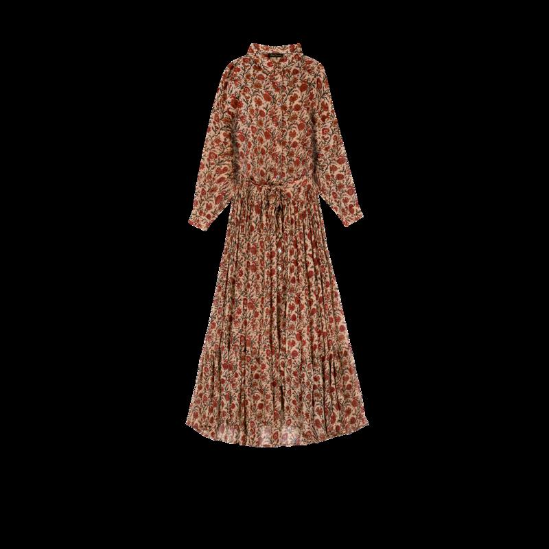 Robe longue chemise imprimé fleuri Glaieul - Mes Demoiselles