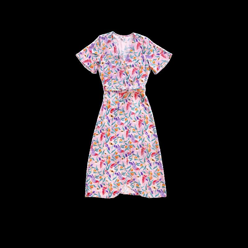 Robe longue imprimée Villa Bouganvillea - Nach