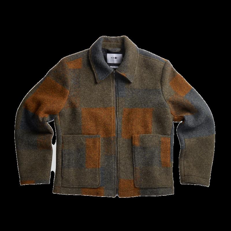 Veste zippée à carreaux en lainage Gael - NN07