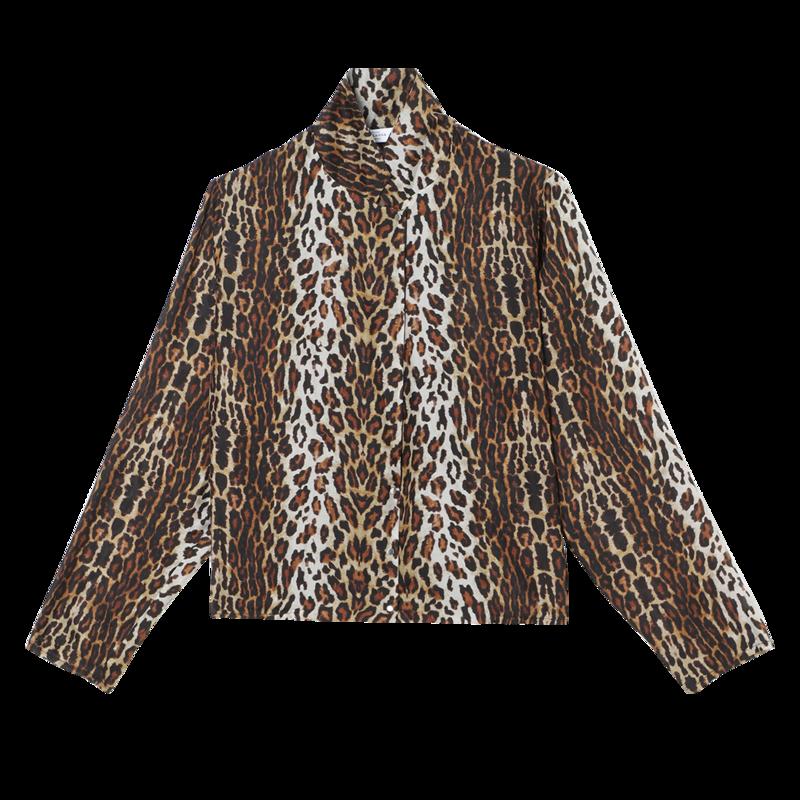 Blouse en soie imprimé léopard Tily Gabriella - Roseanna