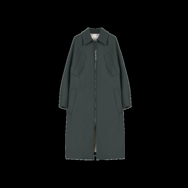 Manteau long zippé Giunco - TELA
