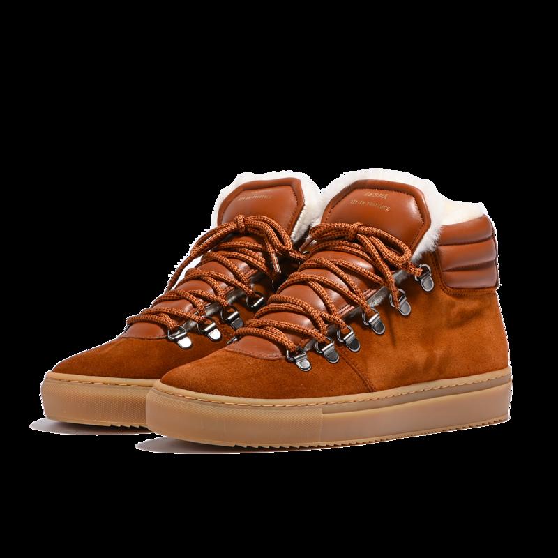 Sneakers montantes en cuir suédé et simili fourrure ZSP2 - Zespa
