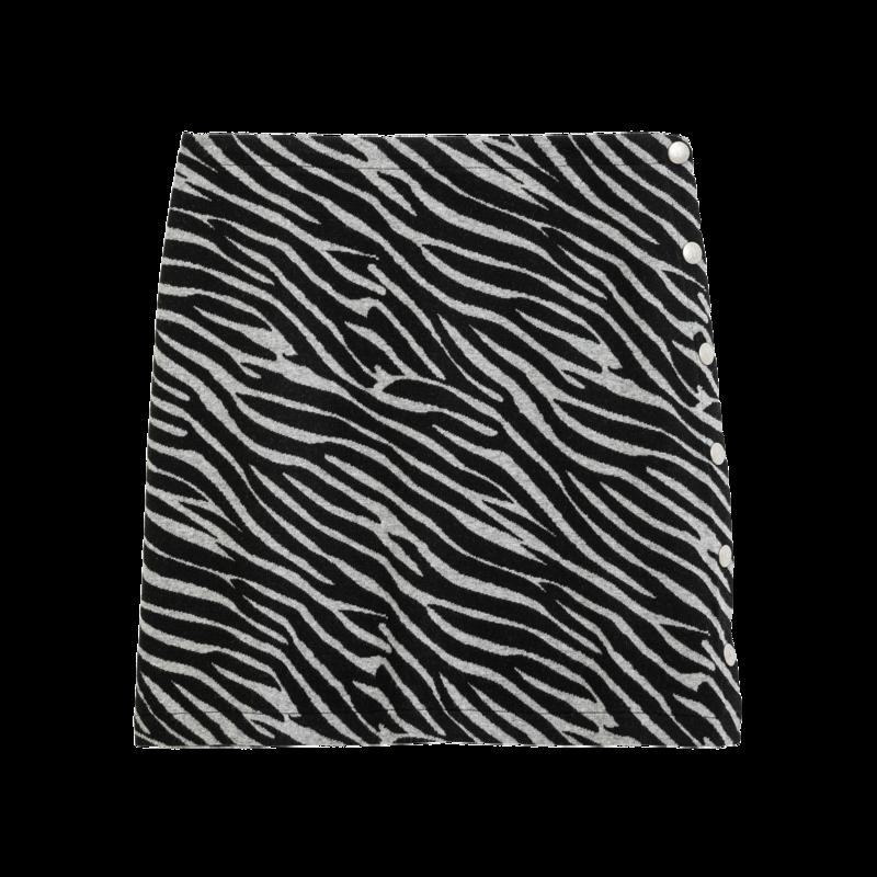 Jupe courte motif zèbre Rosi - agnès b.