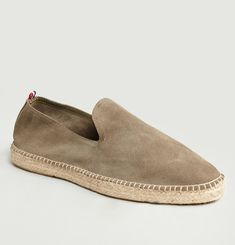Slip On Leather Espadrilles
