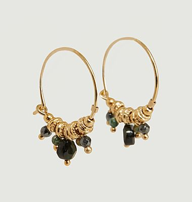 Boucles d'oreilles créoles avec pierres Iva