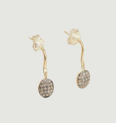 Pilli 3 dangling earrings with diamonds
