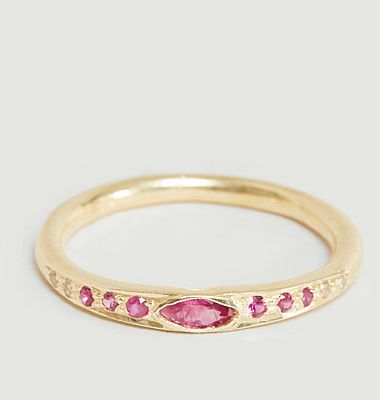 Gitane ring with colored stones