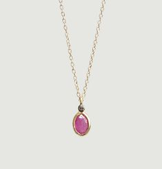 Collier Aby Saphire Rose