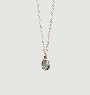 Collier Aby Saphire Bleu