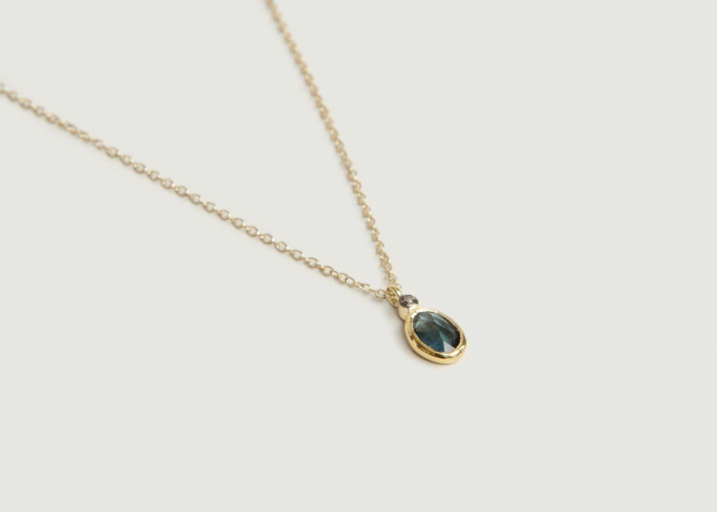 Collier Aby Saphire Bleu - 5 Octobre