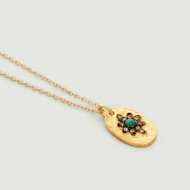 Collier Manu Turquoise - 5 Octobre