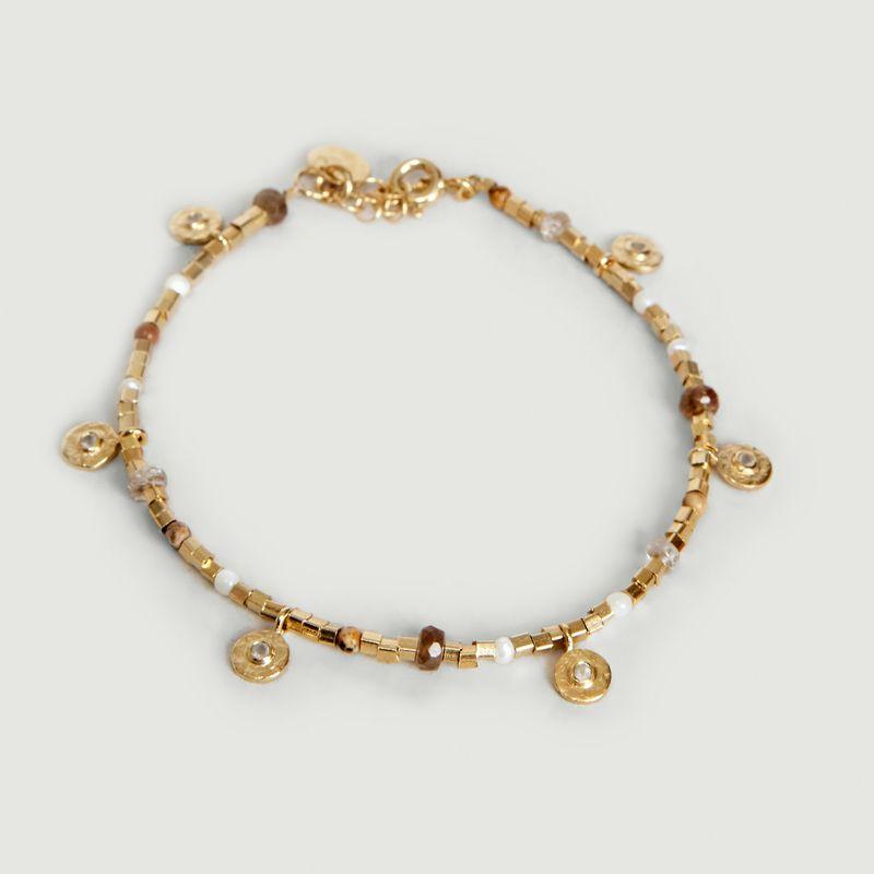 Bracelet Semi Pierre de Lune - 5 Octobre