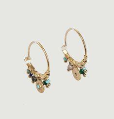 Suzie Turquoise Hoop Earrings