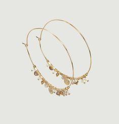 Suzie Moonstone Hoop Earrings