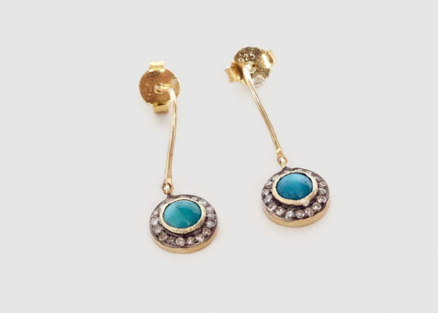 Boucles d'Oreilles Buma Turquoise - 5 Octobre