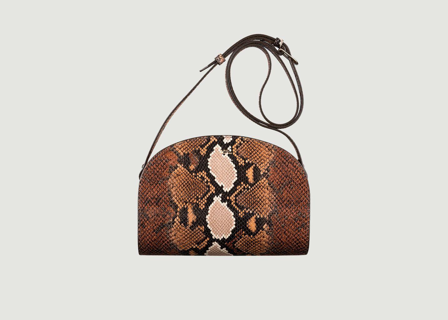 Half Moon Leather Python Embossed Bag - A.P.C.