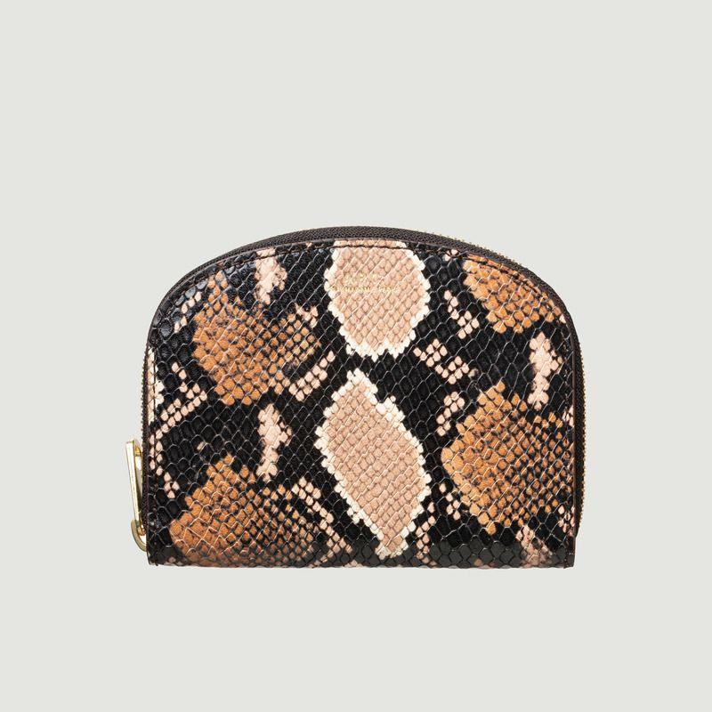 Portefeuille Compact Demi-Lune cuir embossé python - A.P.C.