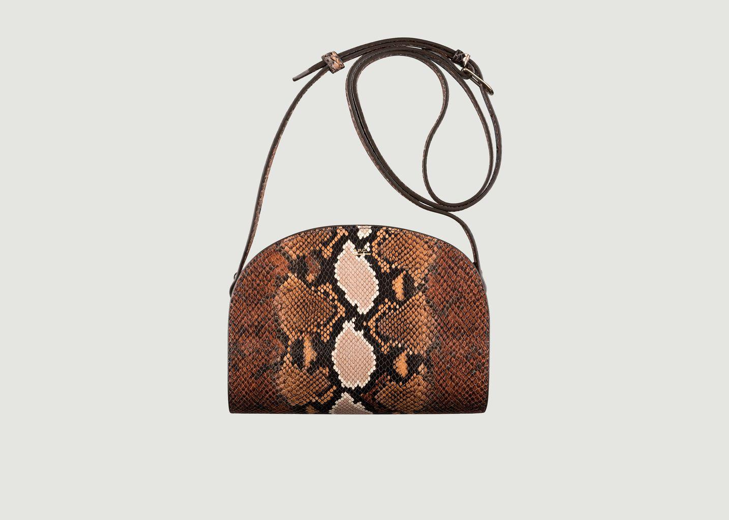 Half Moon Bag Mini Leather Python embossed bag - A.P.C.