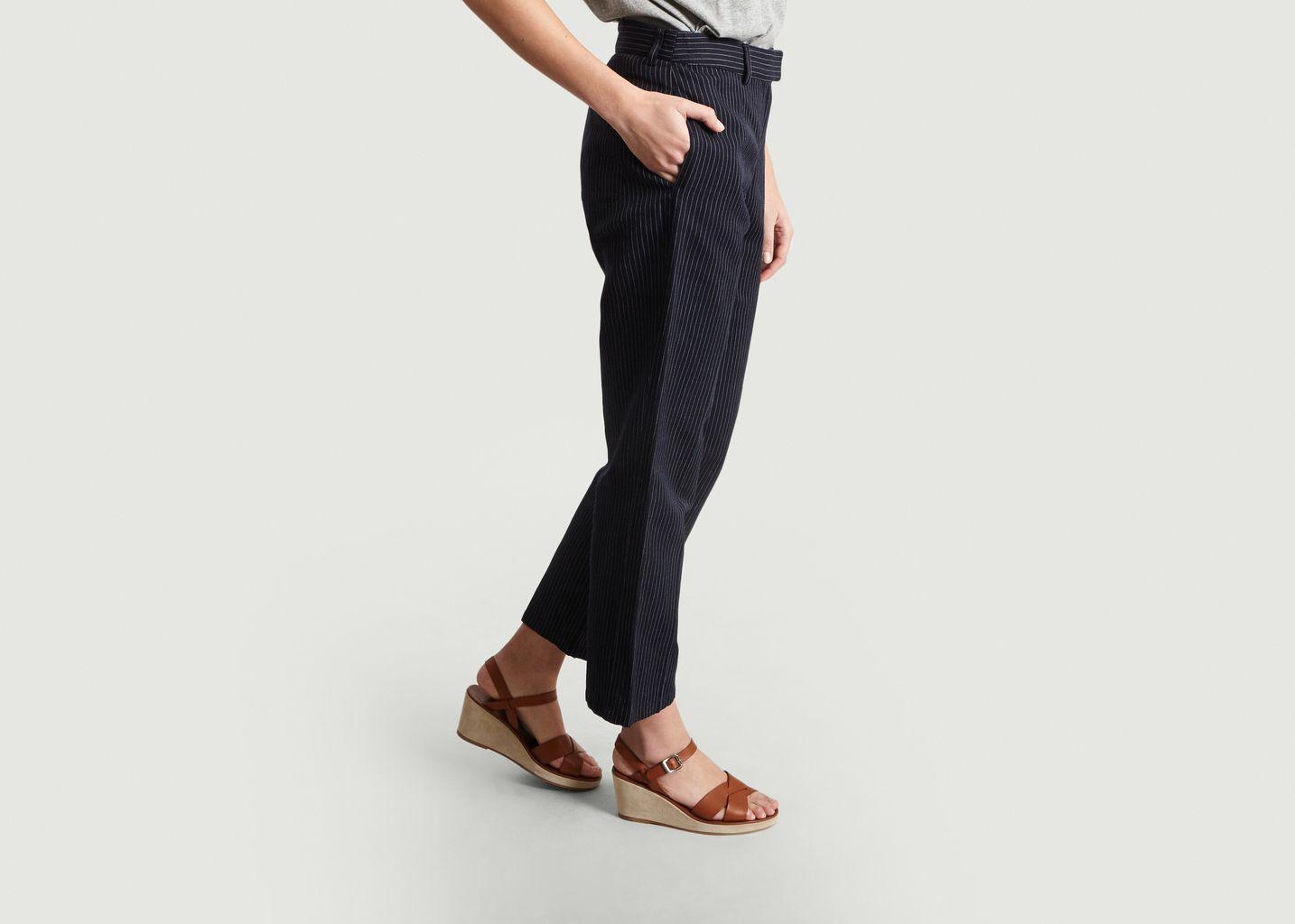 Pantalon Rayé 7/8e Cece - A.P.C.