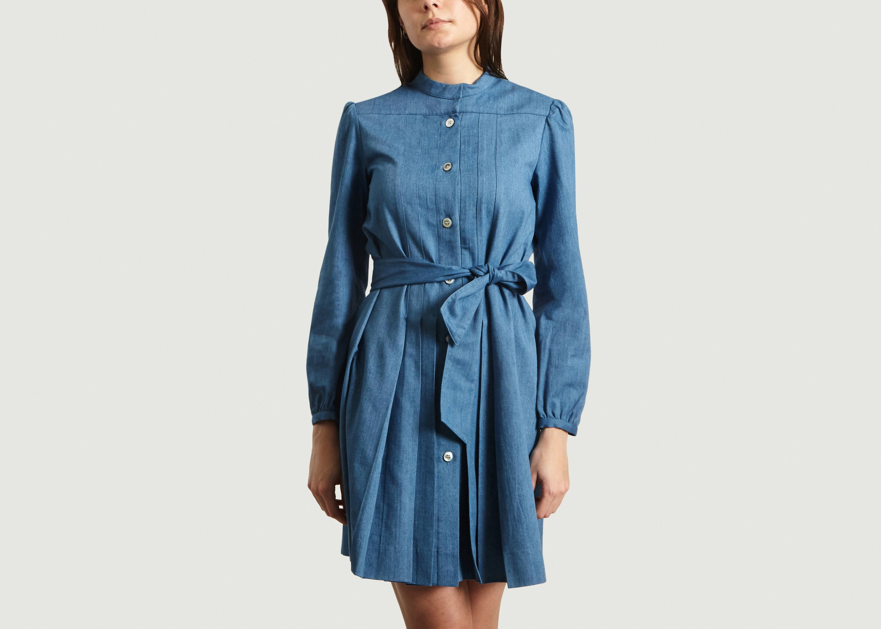 Alba Shirt Dress Indigo APC Paris | L'Exception
