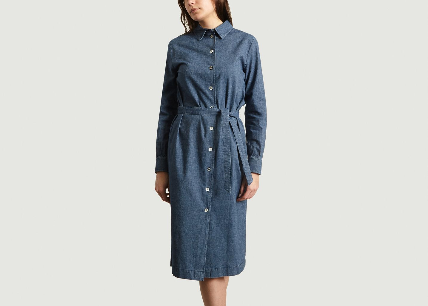 Robe-Chemise Finement Rayée Karen - A.P.C.