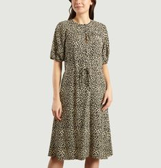 Ondine Leopard Print Dress