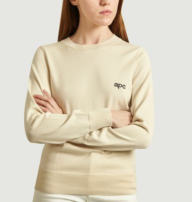 Egyptian Cotton Sweater With Logo