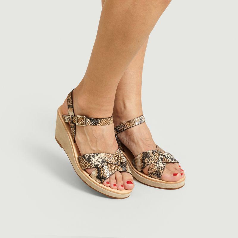 Sandales En Cuir Effet Python Judith - A.P.C.