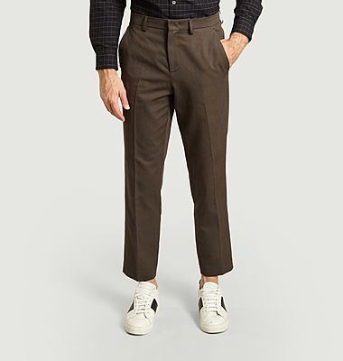 Raphael cotton and linen cropped trousers
