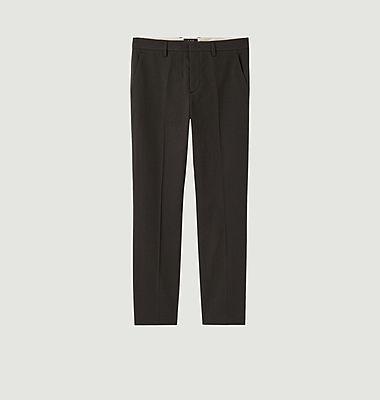 Pantalon cropped en coton et lin Raphael