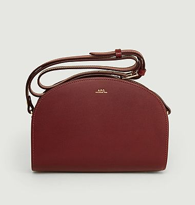 Smooth leather Demi-Lune bag