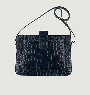 Albane croco leather bag