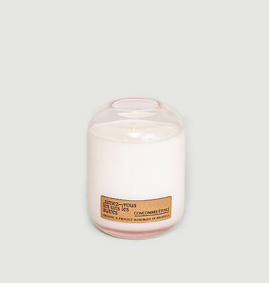 Bougie La Vie en Rose - 300gr -  Concombre Etoilé